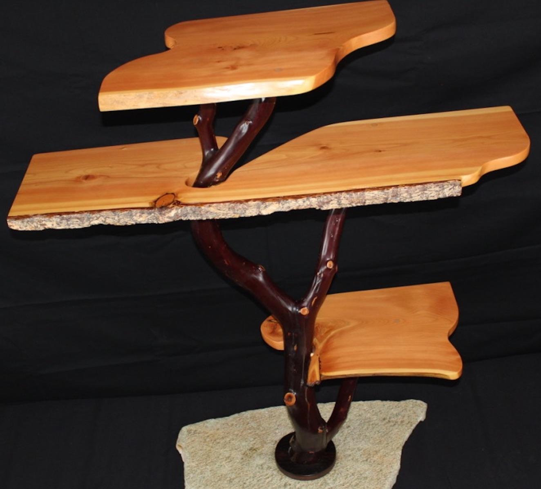 Artisan Wooden Shelving Unit